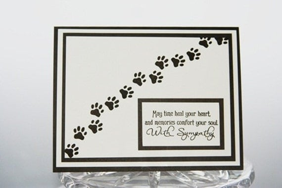 Adorable image inside free printable pet sympathy cards
