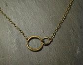 Infinite Brass Necklace