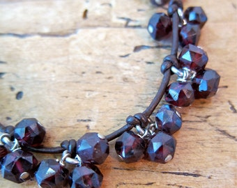 Beautiful garnet cluster necklace.