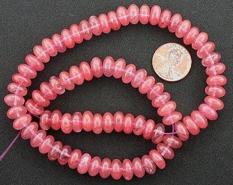 9mm rondelle gemstone cherry quartz beads
