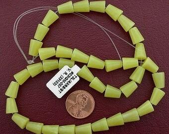 10x8 cone gemstone olive jade beads