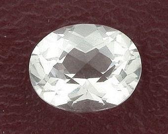 10x8 oval checkerboard white topaz gem stone gemstone