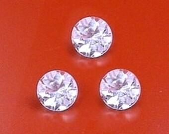 ONE 4mm round aquamarine gem stone gemstones