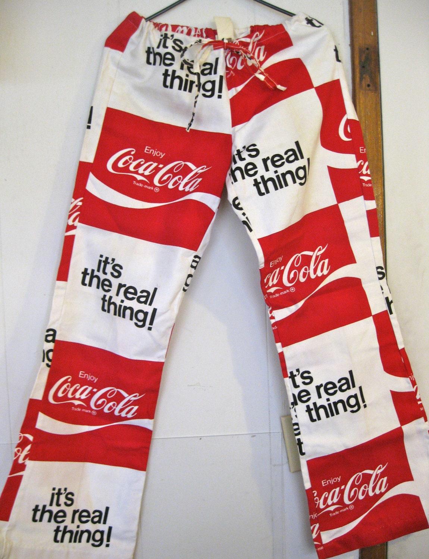 1970 Coca Cola Print Pants