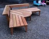 Garden corner bench
