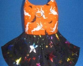 Halloween Ghost Bat Dog Harness Dress w/D ring 806013 XXS