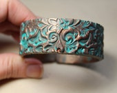 Vintage Copper Patina Small Cuff Bracelet, Handmade by Bethsgemboutique on Etsy