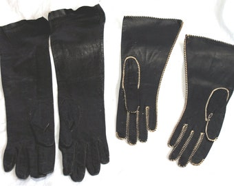 Vintage French Leather Gloves