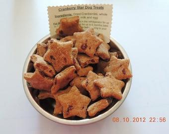 Cranberry Stars Dog Treats