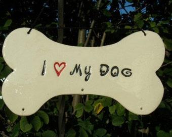 I Love My Dog Wind Chime, I Love my Dogs Chime, Dog Lover Gift, Dog Lover Wind Chime, Wind Chime, Animal Lover, Bone Wind Chime, Custom