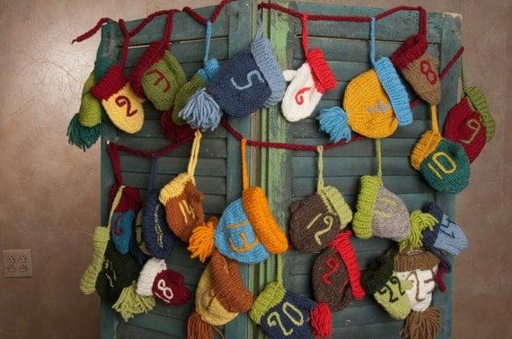 Advent Calendar Handmade Knitting : Knitted advent calendar by campkitschyknits on etsy