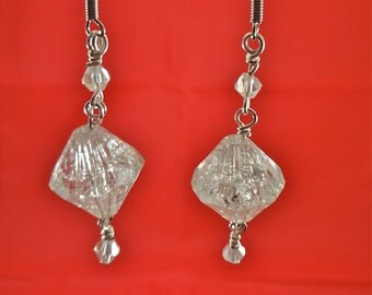 Clear Crystal Silver Earrings