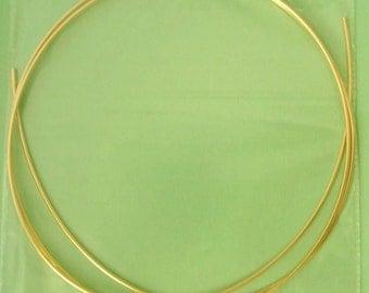 3ft 22 gauge 14k yellow gold filled round beading wire bright shinny yellow half hard w22HHg
