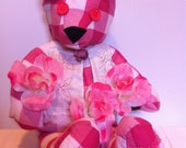 stuffed teddy bears floral garden animal