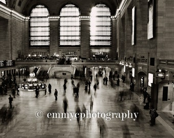 "Art Photography - New York Grand Central Photo Print - 6""x4"" / 10x15cm - Black and White - Wall Art"