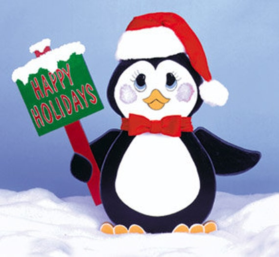 Items similar to Christmas Penguin Greeter Yard Art on Etsy