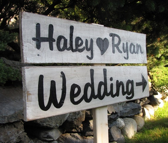 signs Rustic  painted Vintage Wedding rustic Painted Party Signs
