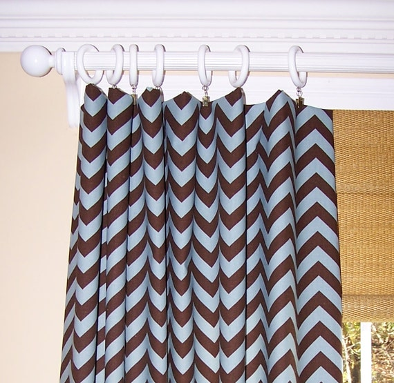 Unavailable listing on etsy - Brown and light blue curtains ...