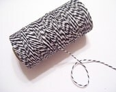 Black and White Bakers Twine - 240 Yards