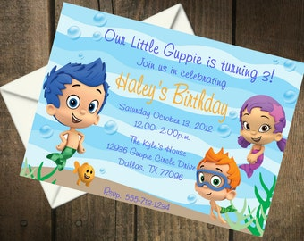 Bubble Guppies Birthday Party Printable Invitation