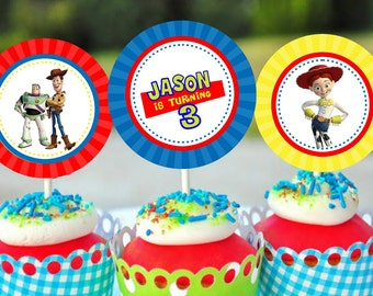 Toy Story Printable Party Circles Cupcake Toppers for Lauren Sanchez