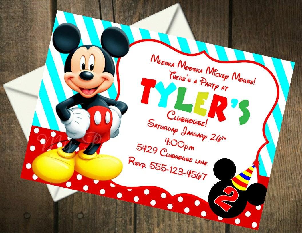 Mickey Mouse Printable Birthday Invitation by ...