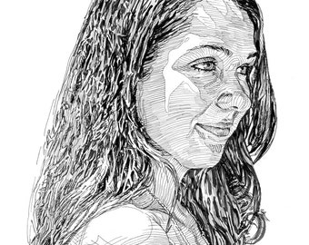 pen and ink people portraits (11 x 14)