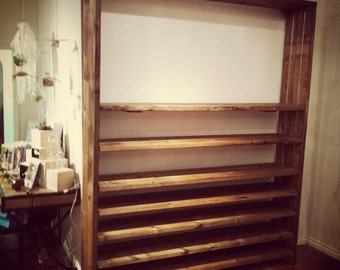 Adjustable Reclaimed Wood Shelves