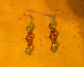 Handmade Earrings/ Made to last/ Perfect for fall or Christmas colors