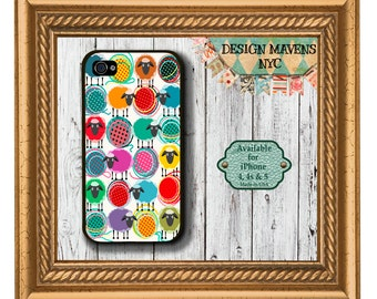 Sheep and Shout Yarn iPhone Case, Plastic iPhone Case, iPhone 4, 4s, iPhone 5, 5s, iPhone 5c, iPhone 6, iphone cover, iphone case