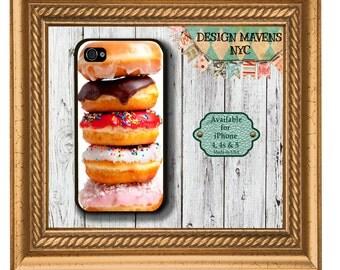 Doughnuts iPhone Case, Hard Plastic iPhone Case, iPhone 4, 4s, iPhone 5, 5s, 5c, iPhone 6, 6s, 6 Plus, Phone Cover, Phone Case