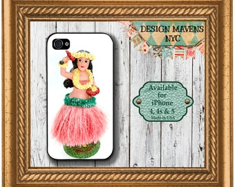 Hula Girl iPhone Case, Summer iPhone Case, Plastic iPhone Case, iPhone 4, 4s, iPhone 5, 5s, 5c, iPhone 6, 6 Plus, Phone Case, Phone Cover