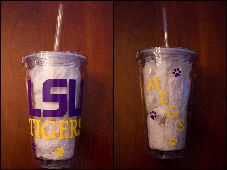 Acrylic Tumbler Tigers LSU Cup