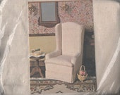 Miniature Upholstered White Chair - DIY Miniature Kit