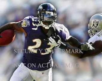 Rare Willis McGahee Baltimore Ravens Art Litho only 50