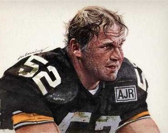 Mike Webster Pittsburgh Steelers Rare Art