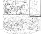 TRANSFORMERS issue 81 page 22 Signed Original Art