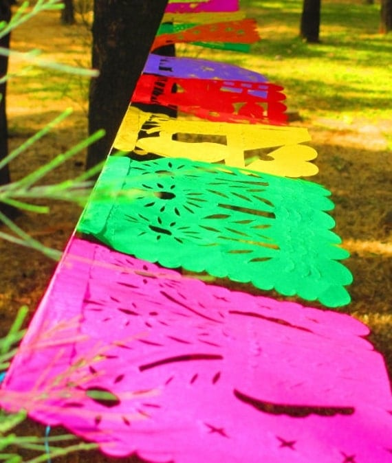 MEDIUM Banner 8 Feet Long Mexico Fiesta Banners Aztec Home Decor
