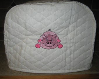 2 or 4 slice small appliance pig toaster cover