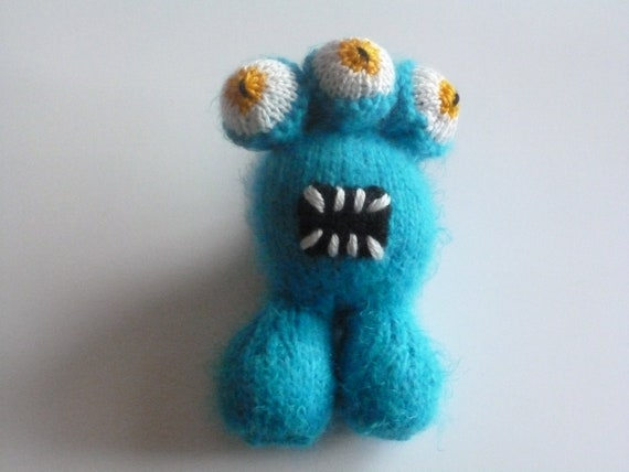 Silly three eyed monster toy