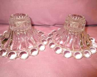 Crystal bubble bottom candlesticks