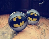 Batman Logo Design Cufflinks, Mens Cuff Links, Graduation Gift, Custom Hand Made Vintage Unique Silver Plated Cuff Link , with a Gift Box