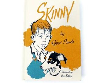Skinny, Sale Vintage Children's Book, 1964, White, Yellow