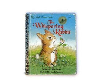 The Whispering Rabbit, Blue, 1992, Rabbit, Bunny, Vintage childrens book