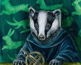 Renaissance Badger Portrait fine art print