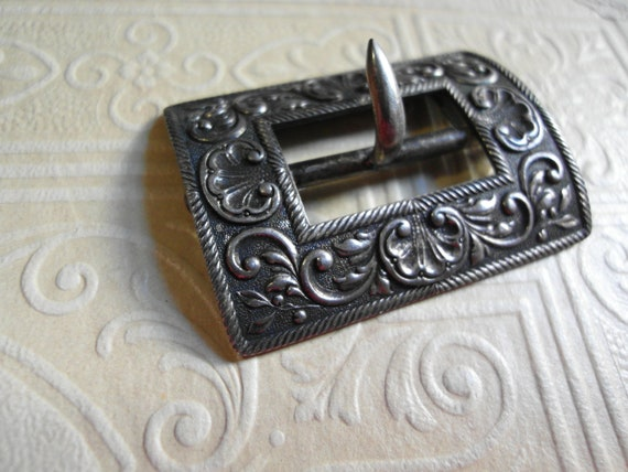 Antique Belt Buckle Sterling Victorian Buckle by ...