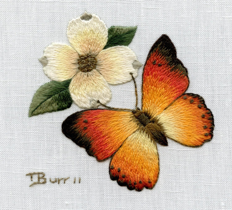 Trish Burr Embroidery Kit Orange By TRISHBURREMBROIDERY