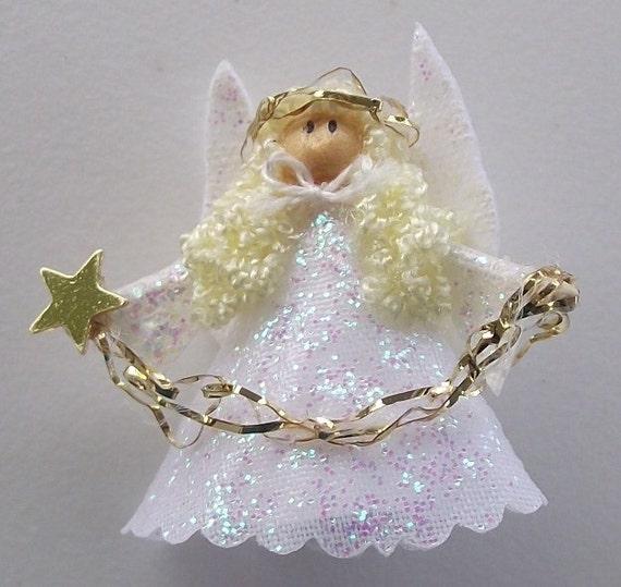 dollhouse miniature angel christmas tree topper. Black Bedroom Furniture Sets. Home Design Ideas
