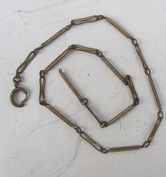 SALE antique Victorian pocket watch chain swivel clip  fob Parts deco nouveau supplies vintage findings destash e103