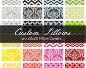 Two 20x20 Pillow Covers - Decorative Pillows - Geometric Pillow - Accent Pillow - Toss Pillow - Throw Pillow - Decorative Pillow Covers